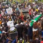 #Endsars: Abuja protesters under attack by law enforcement officers!