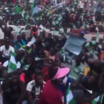 Lagos on fire as law enforcement agents, shoot and kill unarmed, peaceful protesters in Lagos!